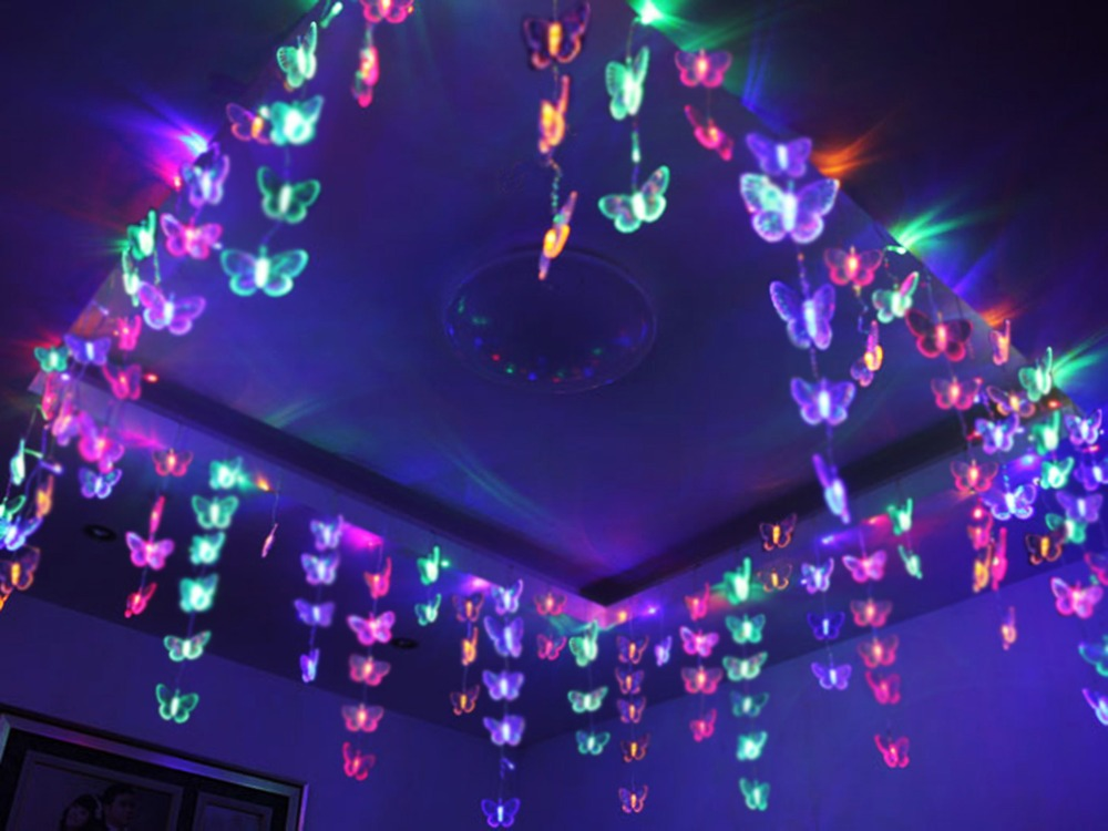 Ceiling Led Lights Flipkart : M lovely butterfly net led string light lamp ceiling