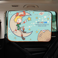 New Car Cartoon Sunshade Curtain Korean Sucker Type Precise Cloth Sunscreen Reflect Side Window Sun Shade