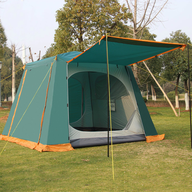 4 6 Person Doule Layer Waterproof Tent Outdoor Camping Family Tent With Carry Bag