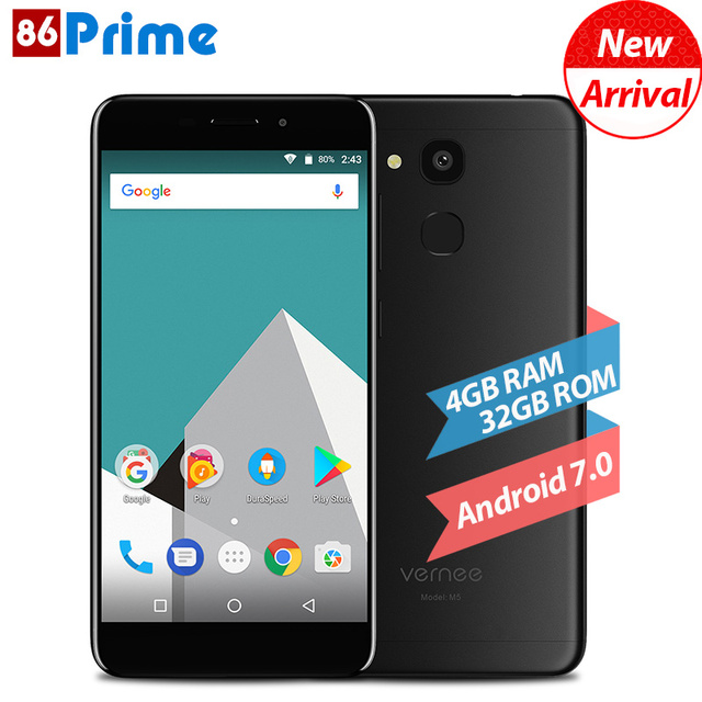 Original Vernee M5 Mobile Phone 4G LTE Android 7.0 Cell Phone 4GB 32GB/64GB 5.2 Inch Smartphone Octa Core 13MP Camera Phone