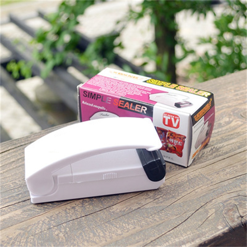 Portable Mini Home Bag Clips Sealing Machine Sealer Food Saver Plastic Bag Capper Hand Pressure Hot Magic Sealer Without Battery
