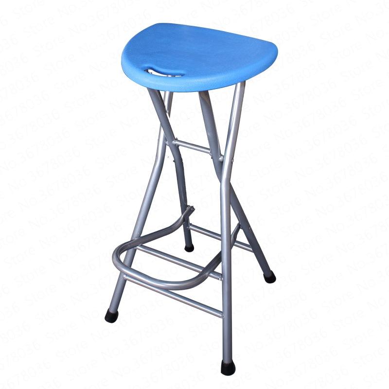 Folding Balcony Stool Bar Stool Portable High Stool Front Desk Chair Has A Footrest