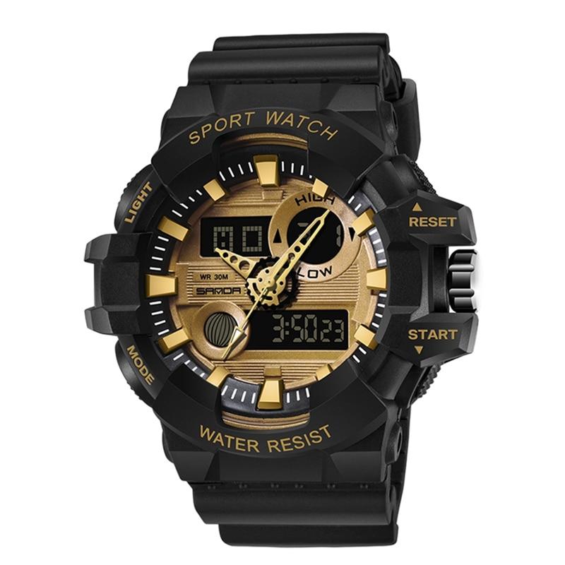 2019 Men Fashion  Multi-function Sports Waterproof Watch Luminous Time Student Watch Multi Colors