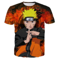 2017 summer new Fashion Short sleeve Anime t shirts Uzumaki Naruto 3D print t shirt Male Female Vintage style Harajuku t shirt