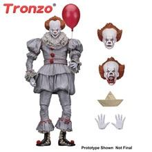 Tronzo عمل الشكل NECA IT Pennywise الشكل 18 سنتيمتر ذلك مهرج نموذج جمع ديكور للهدايا هالوين
