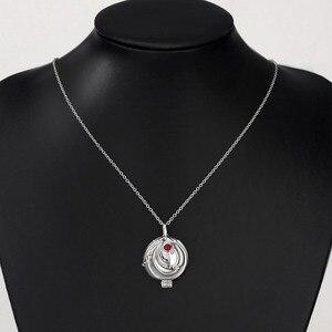 Image 3 - Neoglory colgante de Plata de Ley 925 con zirconia, collar con colgante LARGO DE Elena Nina, diseño de diarios de vampiro, alergia, regalo para mujer