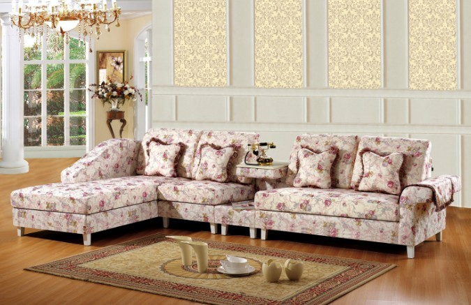 Pink style canada living room funiture for fabric sofacouch set