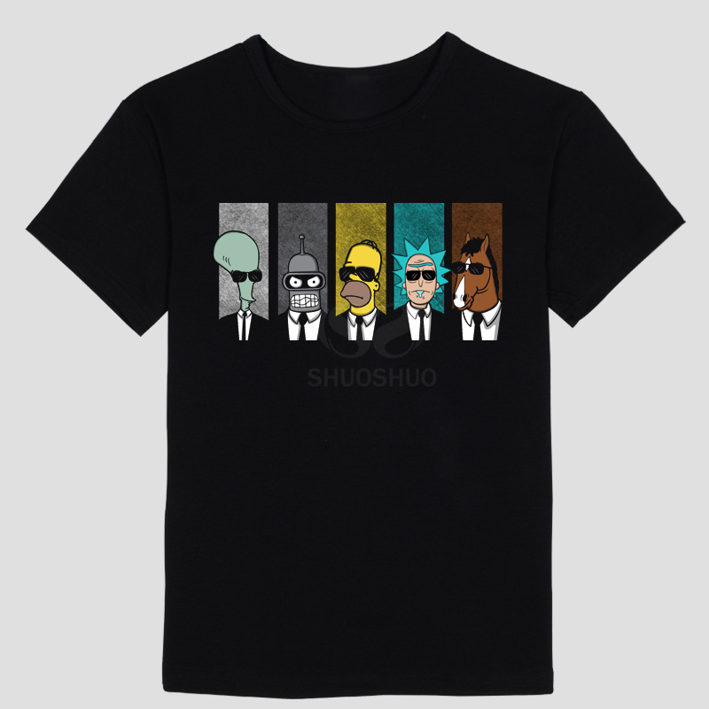 Mashup of rick and morty and reservoir dogs Men's and women's short sleeve T-shirt