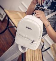 Backpack Women Faux Leather Daily Solid Zipper Letter Soft Handle Vintage Multifunction Casual Shoulder Bag
