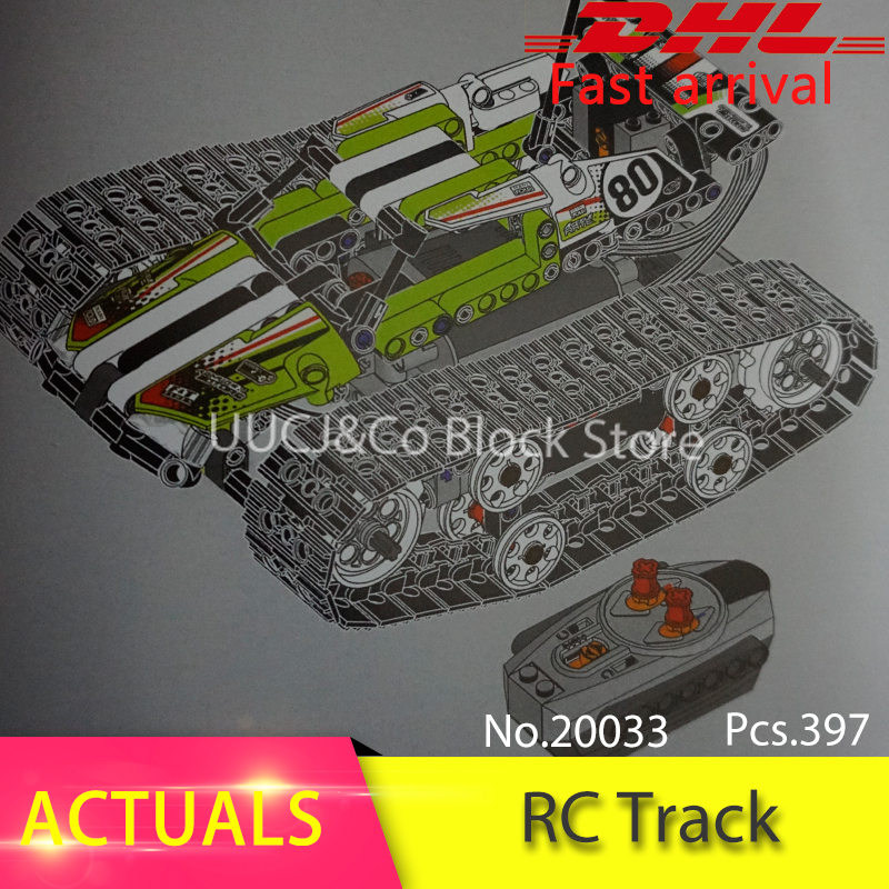 LEPIN 20033 Technic 42065 20033 397pcs RC Track Remote-control Race Car Model building blocks Bricks toys for children Gift military hummer rc tank building blocks remote control toys for boys weapon army rc car kids toy gift bricks compatible lepin