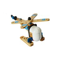 Airplane Toy Children Wooden Aircraft Model Diecast DIY Transport Planes Assembly 3D Puzzle Educational Birthday gift k506
