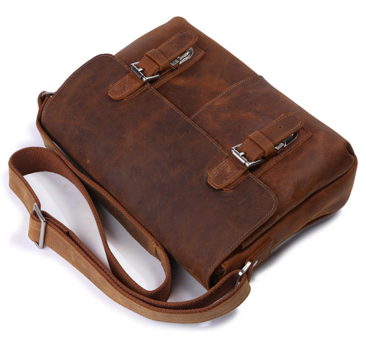 2018 Genuine Leather Bags Men High Quality Messenger Bags Vintage Ipad Brand Casual Travel Brown Crossbody Shoulder Bag For Men jason tutu promotions men shoulder bags leisure travel black small bag crossbody messenger bag men leather high quality b206