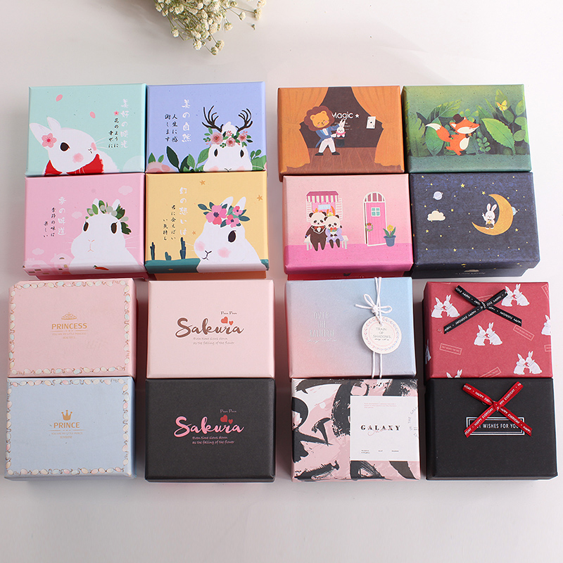 Small cute soap packing paper box children birthday gift packaging box wedding gift cartons candy chocolate boxes
