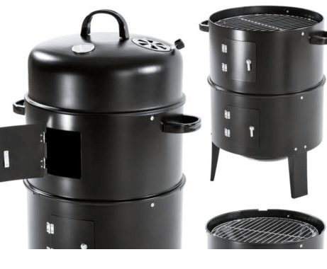 Image 5 - New Model Innovative Metal 3 in 1 BBQ Grill Roaster Steamer Barbecue Grill Portable Outdoor Camping Charcoal Stove grillBBQ Grills   -