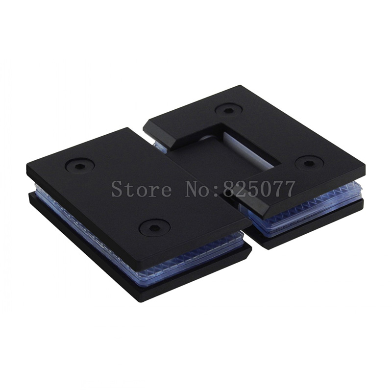2PCS 304 Stainless Steel Black Paint Hinge 180 Degree Open Wall Mount Glass Shower Door Hinge For Home Bathroom Hardware JF1322 black titanium 180 degree hinge open 304 stainless steel glass shower door hinges for home bathroom furniture hardware hm156