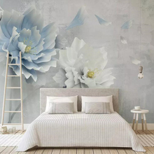 beibehang Customized new creative three-dimensional embossed peony flower lily wisteria fl