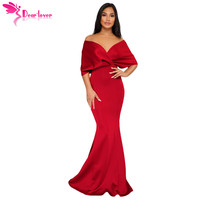 Dear Lover Off The Shoulder Party Gowns Formal Sexy Elegant Backless Mermaid Zip Maxi Long Dress