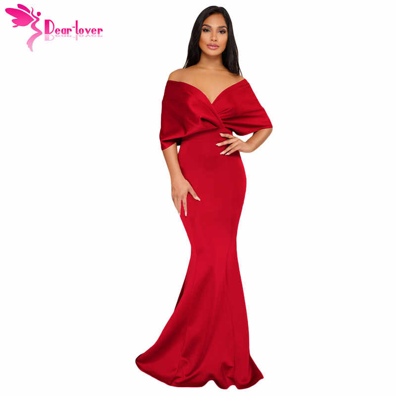 1f2f8a3be Detail Feedback Questions about Dear Lover Off The Shoulder Party Gowns  Formal Sexy Elegant Backless Mermaid Zip Maxi Long Dress Vestidos de Festa  Longo ...