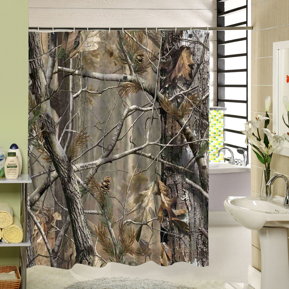 Birch tree shower curtains - Online Shop Birch Tree Shower Curtain Forest Trees For Bathroom Decor Private Protective Unique Shower Curtians Fabric Liner Aliexpress Mobile