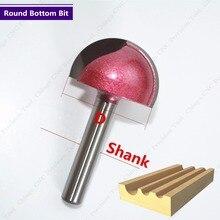 6 мм shank-1PCS, ЧПУ твердосплавная Концевая фреза, деревообрабатывающий фреза, фрезерный станок для гравировки по дереву, круглое дно бит, инструмент по дереву