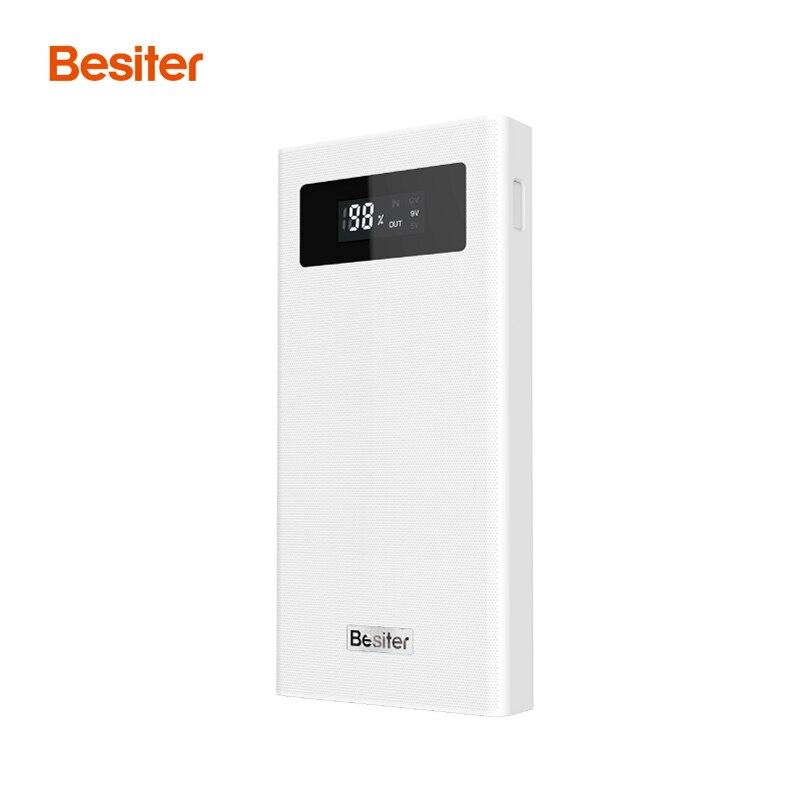 bilder für Besiter 20000 mah Energienbank LCD Display Quick Charge Typ C Micro USB Doppeleingangs Dual USB Ausgang Bewegliches bewegliches Schnelle ladegerät