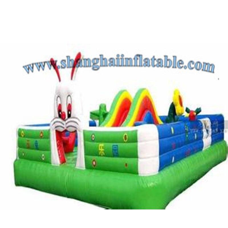 Équipement de terrain de jeu d'arrière-cour/parc d'attractions gonflable géant, ville d'amusement gonflable, île d'amusement gonflable pour des enfants