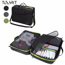 """TOURIT kelioninių pakuočių organizatoriai ir suspaudimo maišeliai su reguliuojamu dirželiu """"Lightweight Bags Organizer-Black"""""""