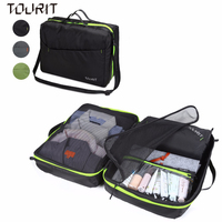 TOURIT Travel Packing Organizers & Compression Pouches With Adjustable Strap Lightweight Luggage Organizer Garment Bag for Cloth