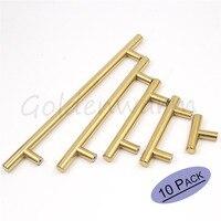 Gold Cabinet Pulls Polished Brass Hole Spacing 64mm 256mm Kitchen Dresser Door Knob Furniture Hardware Drawer