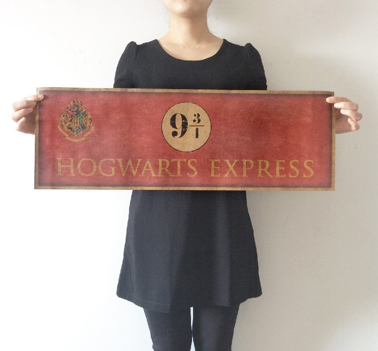 Vintage Harry Potter 9 3/4 Hogwarts Express Poster