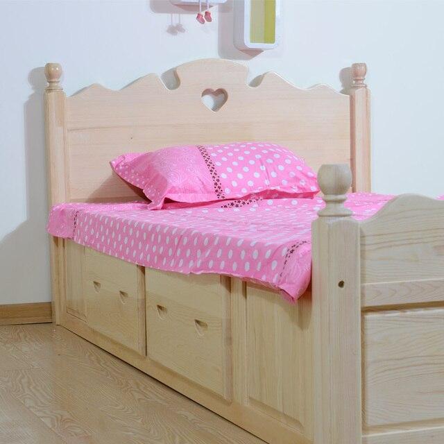 De los niños de muebles de pino cama los niños de madera sólida de ...