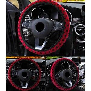 Image 3 - ステアリングホイールカバーdiyホイールカバーソフトぬいぐるみステアリング輪車のスタイリングインテリアカーアクセサリーfundaボランチ