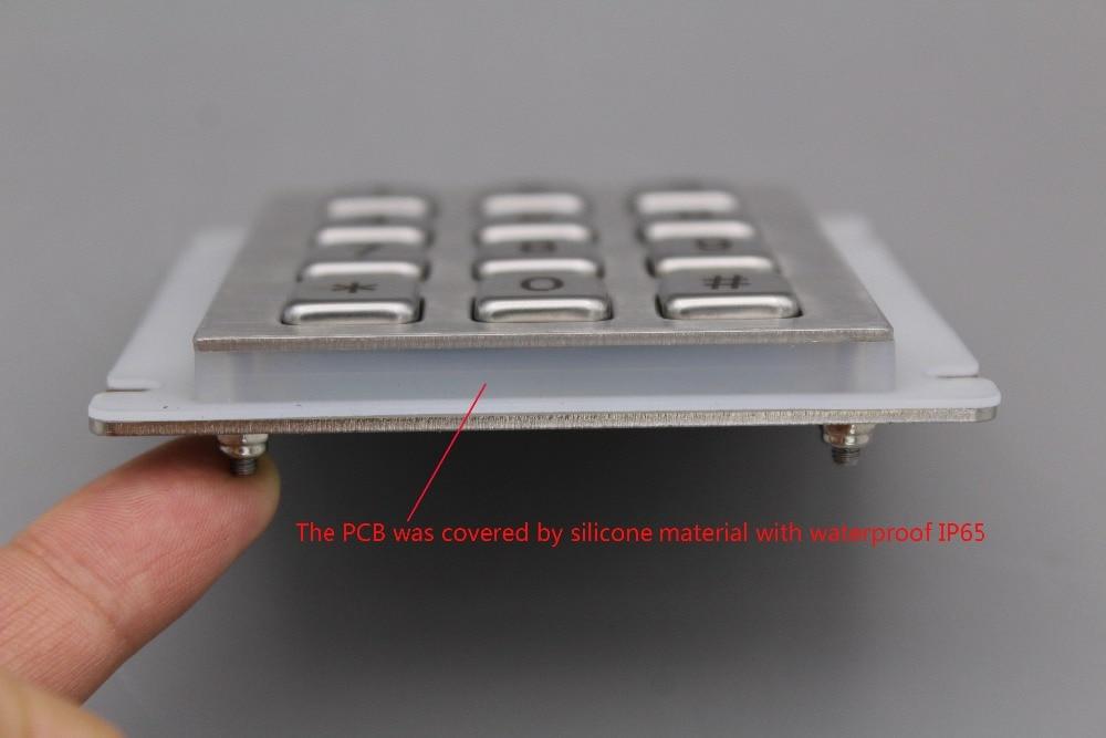 Teclado IP65 100% impermeable teclado de acero inoxidable teclado - Periféricos de la computadora - foto 4