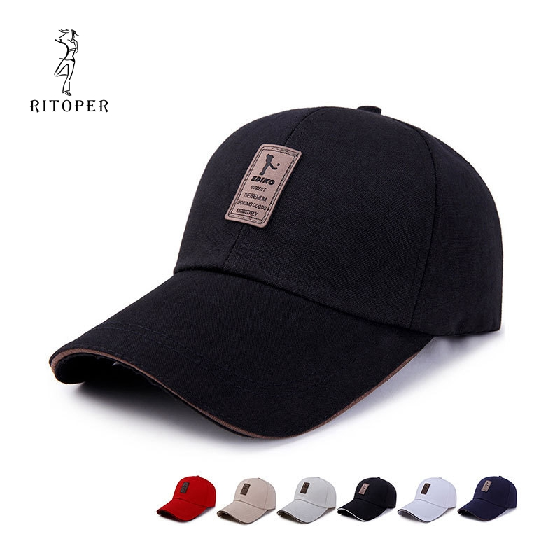 RITOPER Unisex Spring   Baseball     Cap   Cotton Letter   Caps   Golf Outdoor Sunscreen Simple Casual Gorras Casquette Summer Hats Hiking