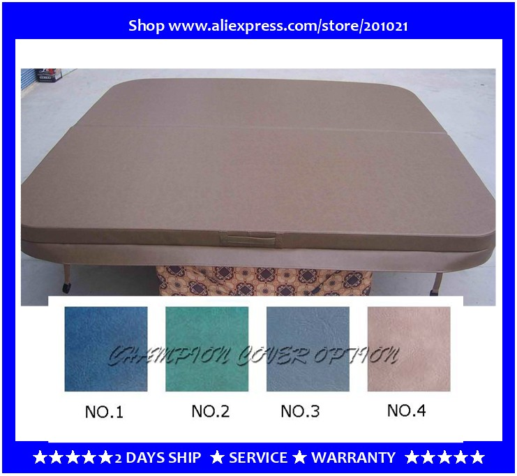 2130mmX2130mm hot tub spa cover leather skin , can do any other size other spa