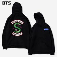 BTS Riverdale Harajuku Loose Hoodie Sweatshirt Men Women Autumn Winter Fashion Tracksuit Sweatshirt Women Oversize Sweatshirt