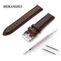 High quality Watch Band Strap Genuine Leather 12mm 13mm 14mm 17mm 18mm 19mm 20mm bands Watchbands Belt Women Bracelet Wrist Band