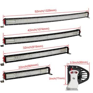 Image 5 - Đồng Sáng 22 32 42 52 Inch 12D Cong LED Bar Combo 12V 24V Ngoài Đường đèn Led Thanh Cho Xe SUV 4X4 Lada Uaz Xe Tải Tự Động Lái Xe Ánh Sáng