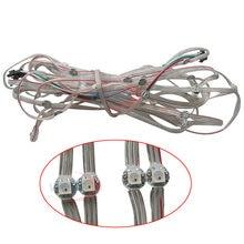 Dissipateur de chaleur LED WS2812B, DC5V, 50 ~ 1000 pièces, pré-soudés, 5050 rvb WS2811 IC intégré avec fil de 10cm, Module LED adressable