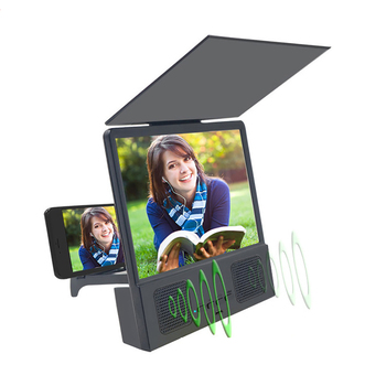 AMPLIFICADOR DE PANTALLA DE teléfono portátil, 3D, HD, Bluetooth parlante, marco de fotos, accesorios para teléfono móvil