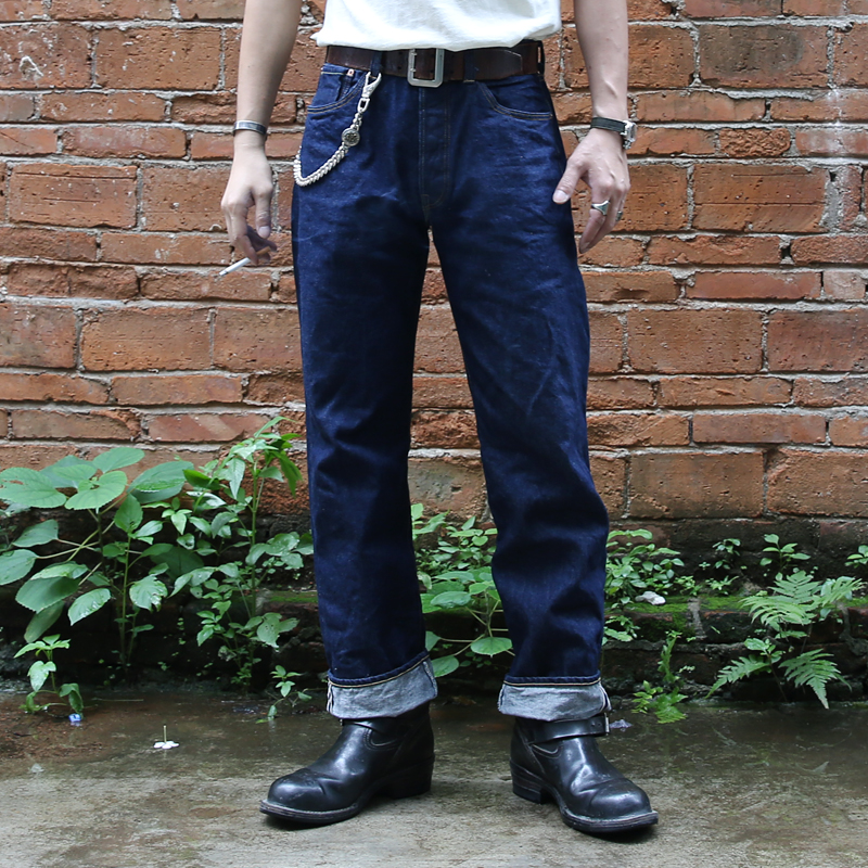 47801XX Bronson 15oz Indigo Selvage Unsanforised Mens Indigo Selvage Unwashed Raw Denim Jean