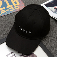 Fashion New Solid Street Style Youth Embroidery Hip Hop Hats Snapback Caps Golf Sun Hat Baseball