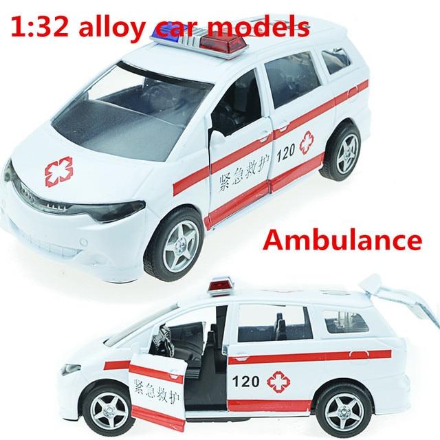 0440081d38 1:32 modelli di auto in lega, alta simulazione ambulanza, metallo fonde  sotto