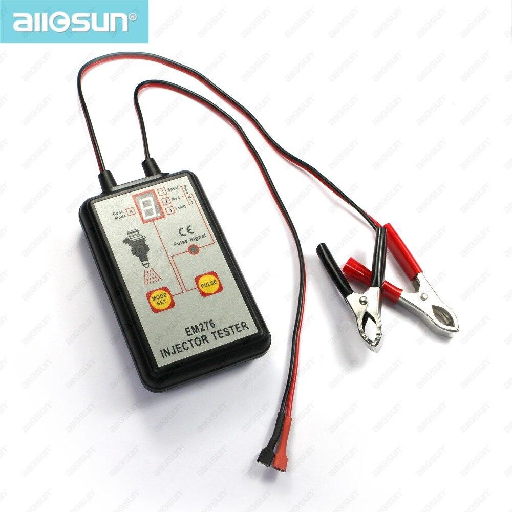 Fuel Injector Tester Automotive Fuel Pump System Analyzer 4 Pulse Modes Allsun EM276 Injector Pressure Gauge все цены