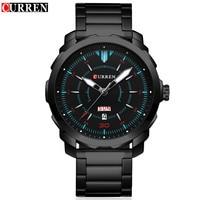 CURREN Mens Watches Top Brand Luxury Sport Quartz Watch 3ATM Waterproof Men S Stainless Steel Wrist