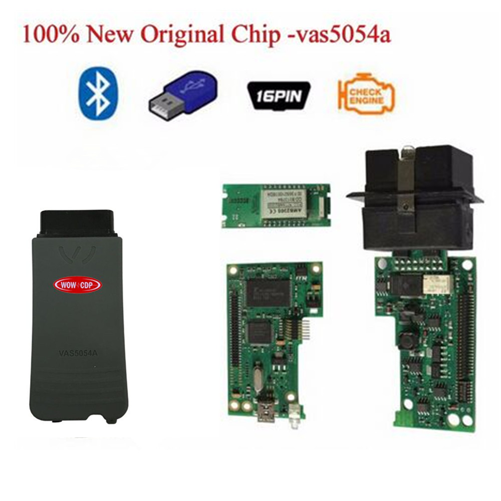 2017 DHL FREE ! original import chip NEW top multi-language vas 5054a scanner version VAS5054 vas 5054 Bluetooth vas5054a цена
