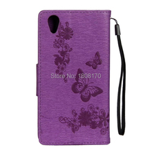 Honor9 Butterfly Flower Wallet Leather Pouch Case For Huawei Honor 9 Strap Money Pocket Stand Cell Phone Skin Cover 1pcs