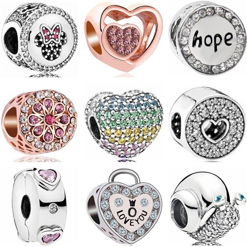 Btuamb Punk Style Carved Flower Handbag Firework Mickey & Minnie Cartoon Charm Beads Fit Pandora Original Bracelets Diy Jewelry Jewelry & Accessories Beads & Jewelry Making