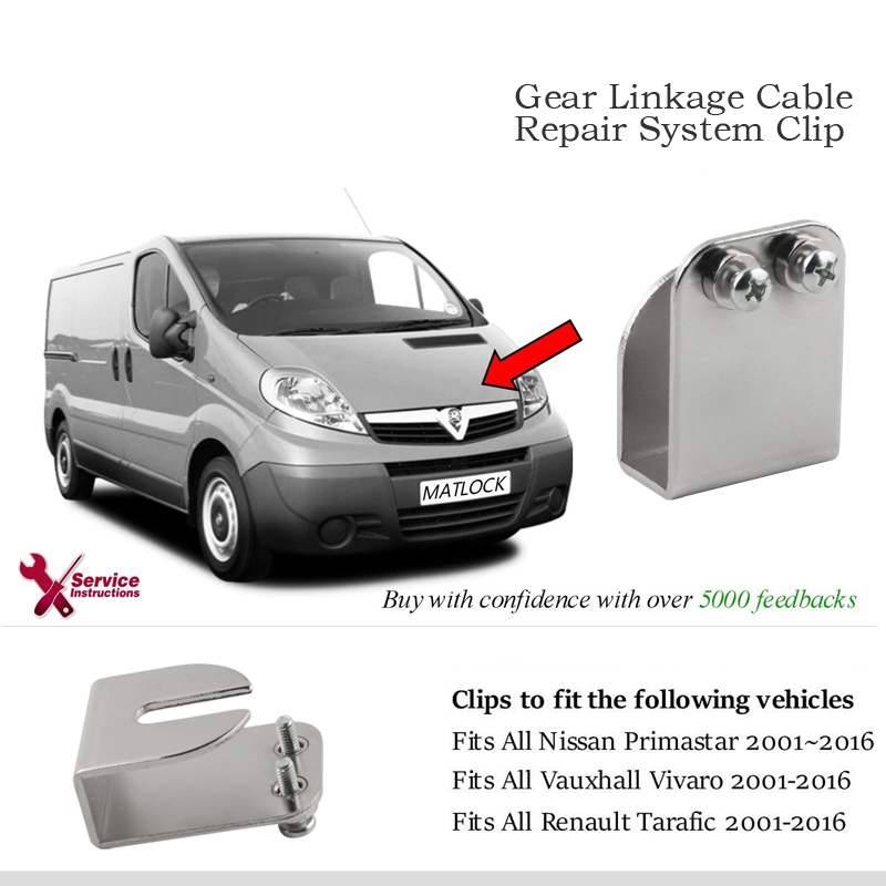 5pcs/lot Gear Linkage Cable Repair System Clip For Vauxhall Vivaro Nissan Primistar Renault Trafic
