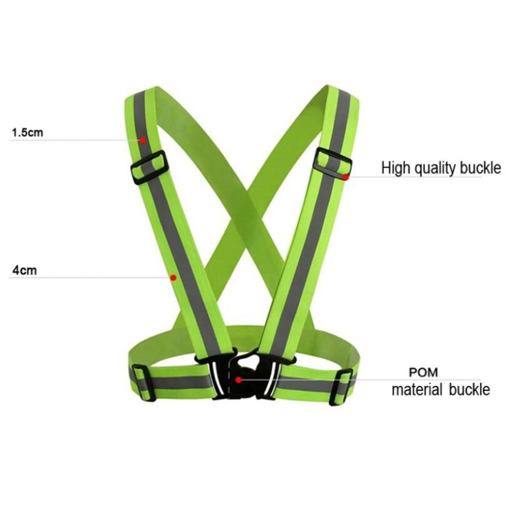 Bicycle Accessories New Unisex Outdoor Cycling Safety Vest Bike Ribbon Bicycle Light Reflecing Elastic Harness For Night Riding Running Jogging